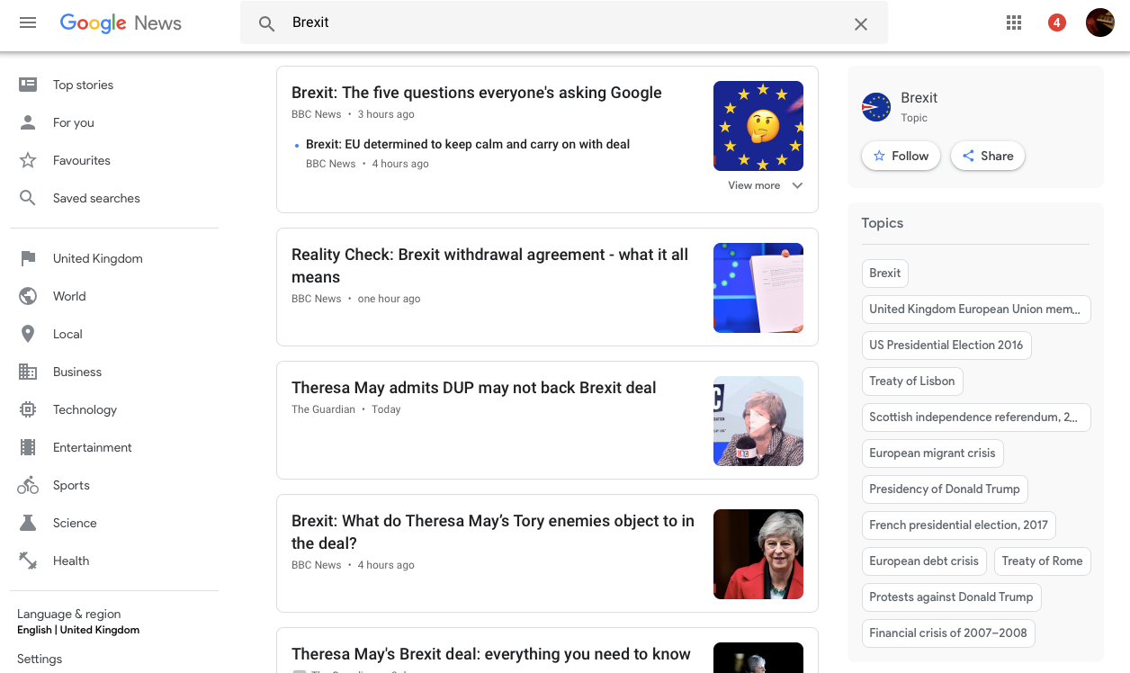 google news results