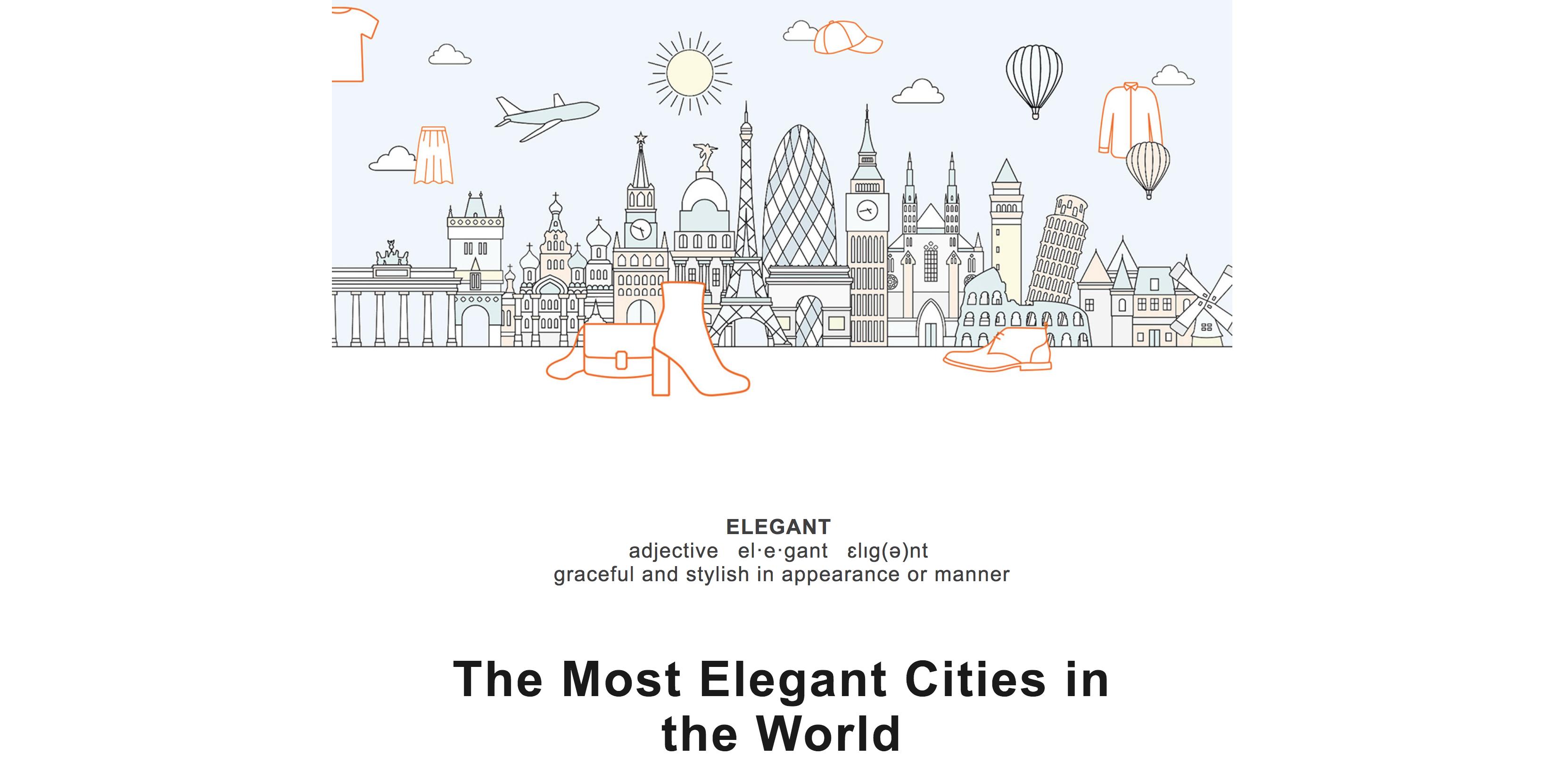 Example of Zalando's most elegant cities