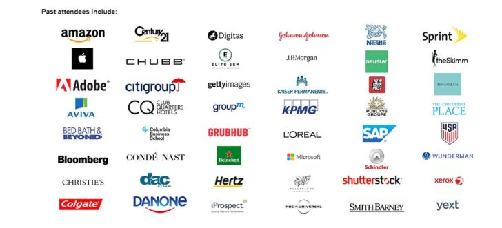 past attendees of transformation of search summit, examples of brands