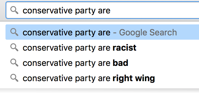 conservative party are search terms