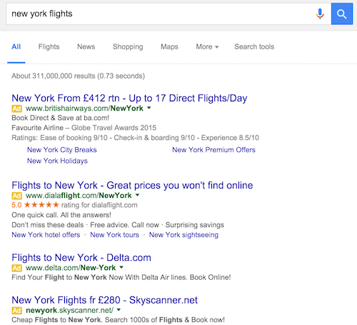 new york flights Google Search