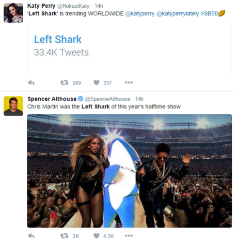 left shark tweets