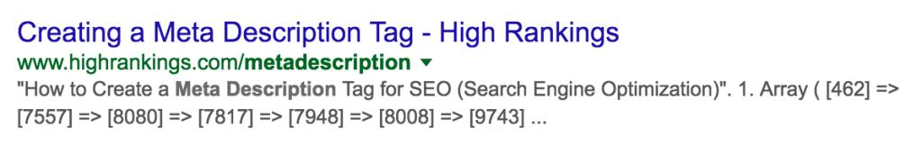 meta description bad Google Search