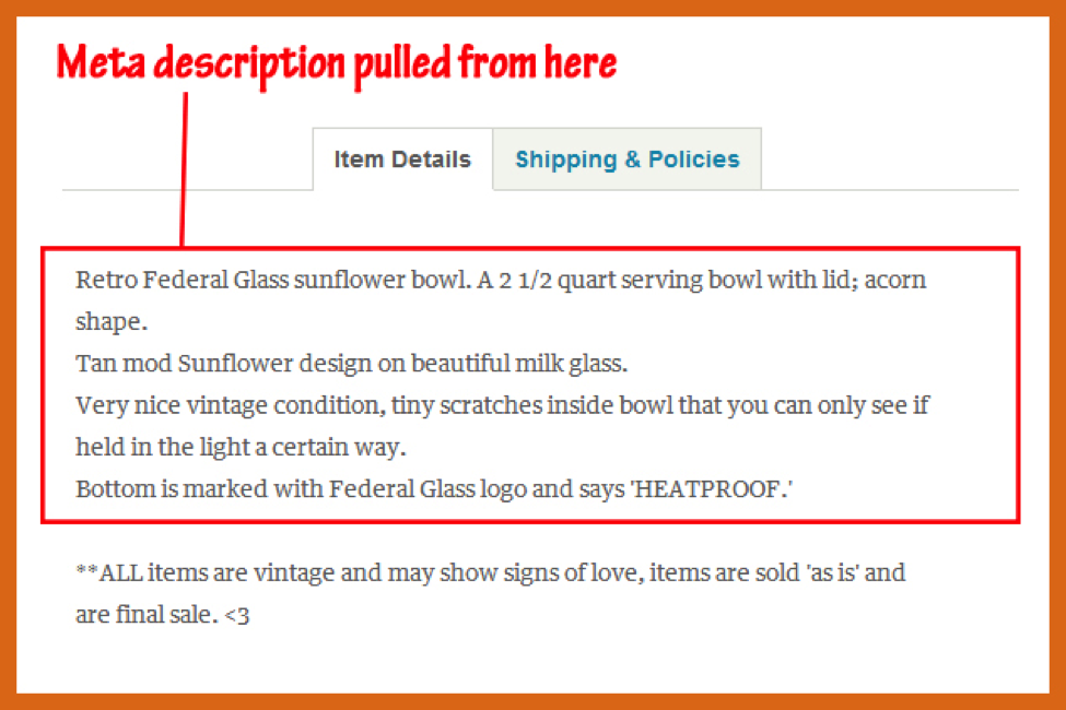 etsy meta description