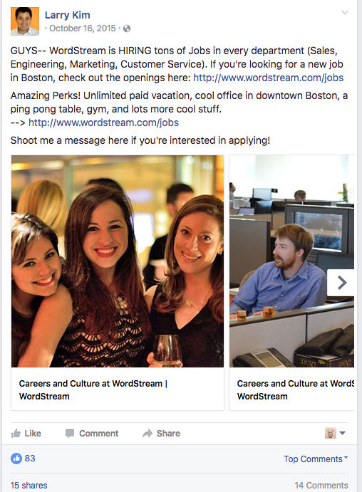 larry-kim-wordstream-recruiting-facebook-ad