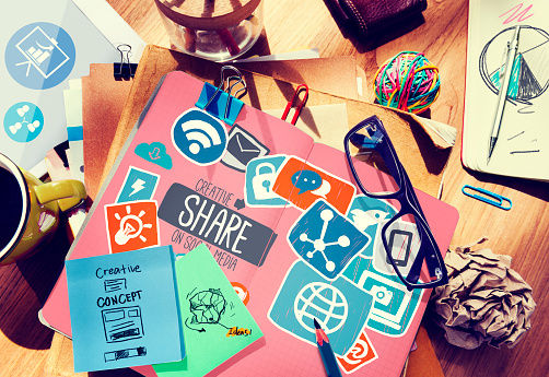 Creative Share Social Media Social Network Internet Online Concept
