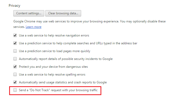 how to turn off ad tracking in google bing and yahoo search
