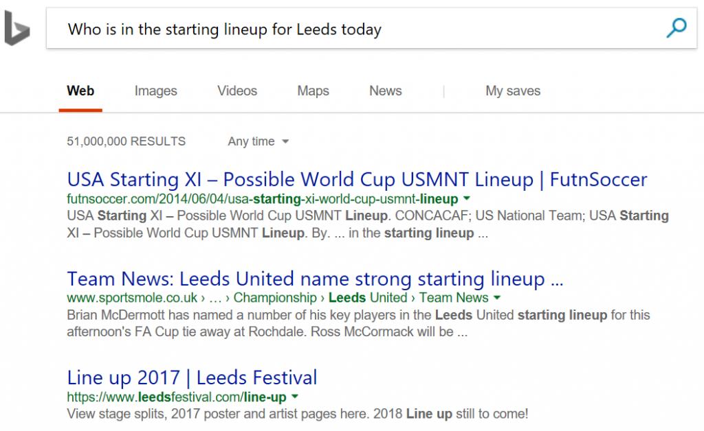 Leeds line-up