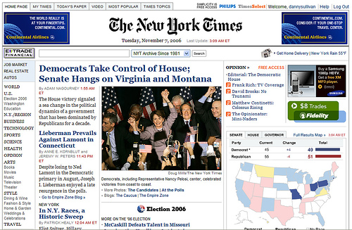 Elections 2006: New York Times Home Page