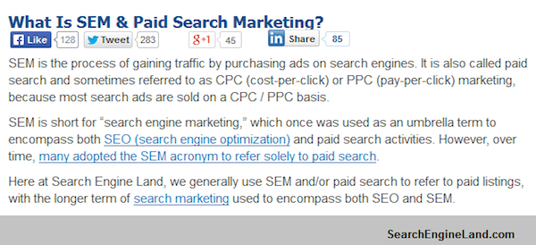 What is SEM and Paid Search Marketing