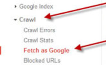 index your content faster with the fetch as google tool search