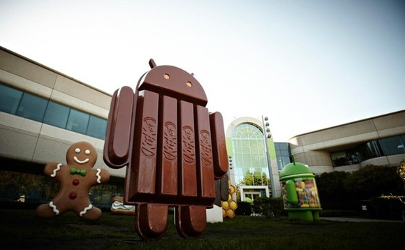 Android 4.4 Kitkat statue