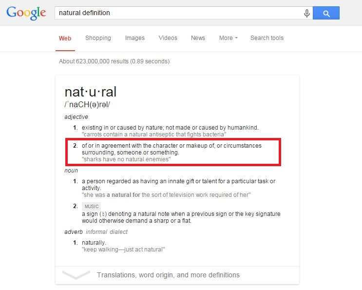 natural-definition