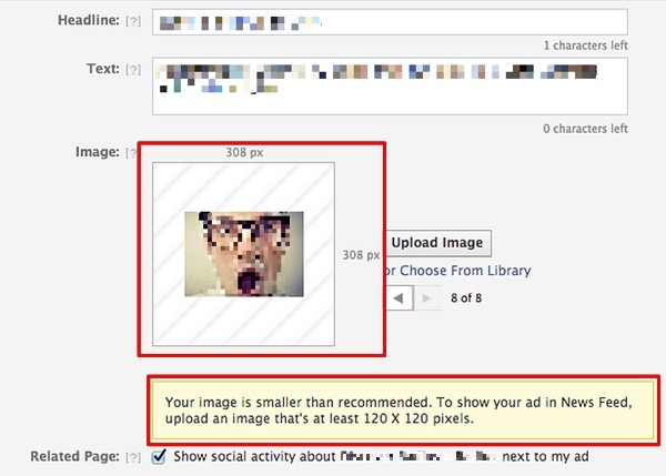Facebook Create Flow Image Size Preview
