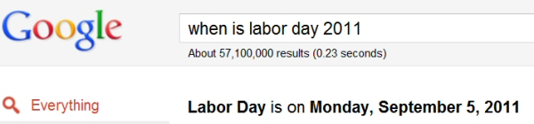 google-when-is-labor-day-2011