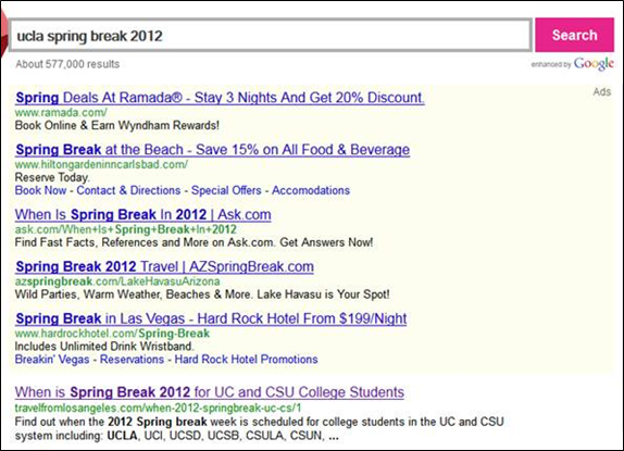 ucla-spring-break-2012-google-serp