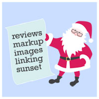 Reviews markup images linking sunset