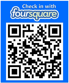 Foursquare Check-in Here via QR code Stickerscan decal