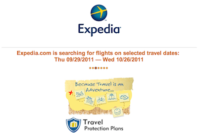 Expedia loading screen delay