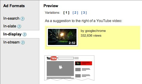 AdWords TrueView Video Ad Positions on YouTube